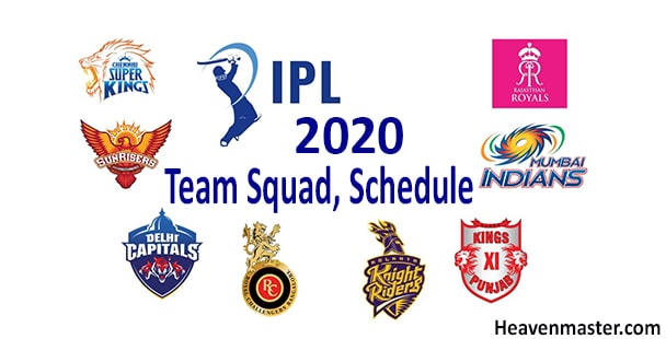 IPL 2020 Schedule PDF HeavenMaster