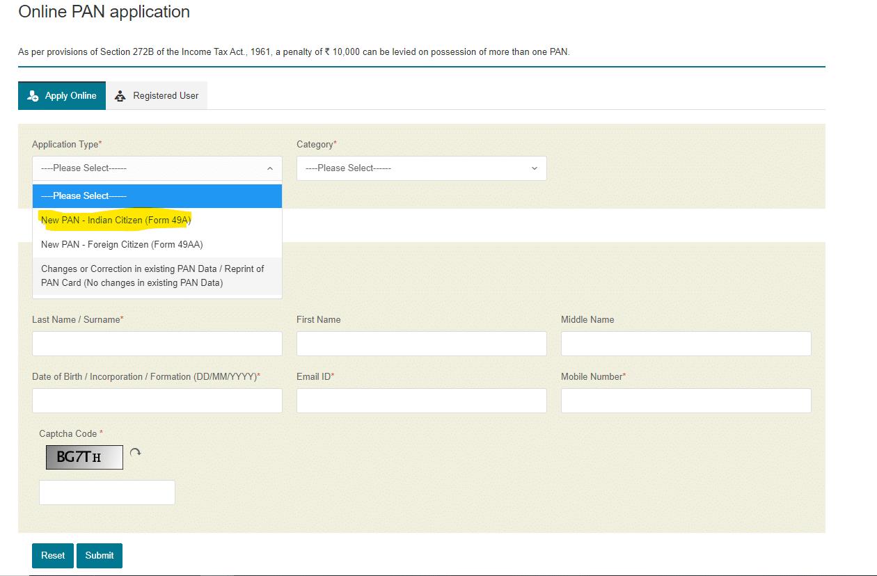 Applying for PAN Online HeavenMaster