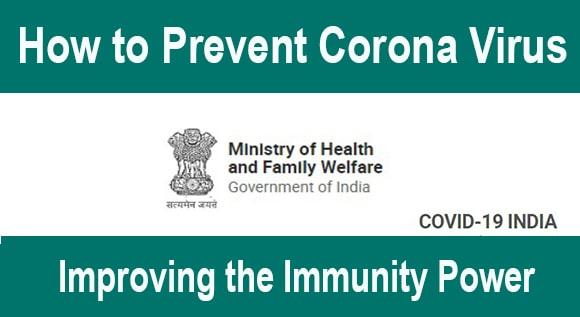 How to Prevent Corona Virus - Improving the Immunity Power